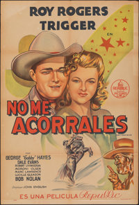 """Don't Fence Me In (Republic, 1945). Folded, Fine+. Argentinean One Sheet (29"""" X 43""""). Western"""