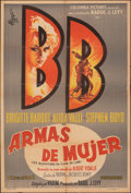 """Movie Posters:Foreign, The Night Heaven Fell (Columbia,1958). Folded, Fine/Very Fine. Argentinean One Sheet (29"""" X 43""""). Foreign.. ..."""