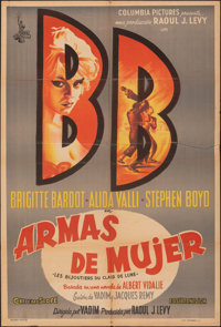 """The Night Heaven Fell (Columbia,1958). Folded, Fine/Very Fine. Argentinean One Sheet (29"""" X 43""""). Foreign"""