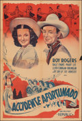 """Movie Posters:Western, Song of Nevada (Republic, 1944). Folded, Fine+. Argentinean One Sheet (29"""" X 43""""). Western.. ..."""