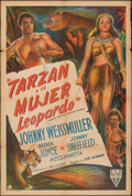 """Movie Posters:Adventure, Tarzan and the Leopard Woman (RKO, 1946). Folded, Fine+. Argentinean One Sheet (29"""" X 43""""). Adventure.. ..."""