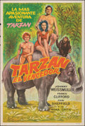 """Movie Posters:Adventure, Tarzan Triumphs & Other Lot (R-1950s). Folded, Fine+. Argentinean One Sheets (2) (Approx. 29"""" X 43""""). Adventure.. ... (Total: 2 Items)"""