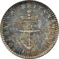 "British West Indies, British West Indies: British Colony. George IV ""Anchor Money"" 1/16 Dollar 1822 MS62 NGC,..."