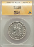 1832 50C Small Letters -- Cleaned -- ANACS. AU50 Details. Mintage 4,797,000. ...(PCGS# 6160)
