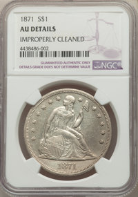 1871 $1 -- Improperly Cleaned -- NGC Details. AU. Mintage 1,074,760. ...(PCGS# 6966)