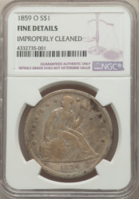 1859-O $1 -- Improperly Cleaned -- NGC Details. Fine. Mintage 360,000. ...(PCGS# 6947)