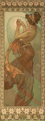 Alphonse Mucha (Czech, 1860-1939) Étoile polaire, 1902 Lithograph in colors on paper, trimmed 34-