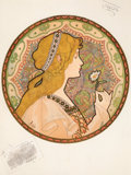 Prints & Multiples, Jane Atche (French, 1874-1944). Reverie, 1904. Lithograph in colors on paper. 20-1/2 x 15 inches (52...