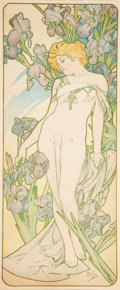 Prints & Multiples, Alphonse Mucha (Czech, 1860-1939). Iris, 1898. Lithograph in colors on paper. 42 x 18 inches (106.7 x 45.7 cm) (sheet). ...