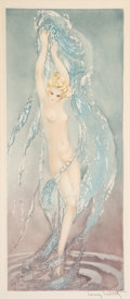 Prints & Multiples, Louis Justin Laurent Icart (French/American, 1888-1950). Le fet d'eau, 1936. Etching in colors on wove...