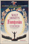 "Movie Posters:Animation, Fantasia (Buena Vista, R-1963). Folded, Fine+. One Sheet (27"" X 41""). Animation.. ..."