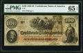 Confederate Notes:1862 Issues, T41 $100 1862 PF-17 Cr. 318 PMG Gem Uncirculated 65 EPQ.. ...