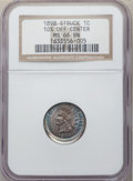 Errors, 1898 1C Indian Cent -- Struck 10% Off-Center -- MS66 Brown NGC....