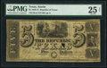 Austin, TX- Republic of Texas $5 Jan. 27, 1840 Cr. A4 Medlar 24 PMG Very Fine 25 Net