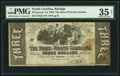 Raleigh, NC- State of North Carolina $3 Jan. 1, 1863 Cr. 125 PMG Choice Very Fine 35 Net