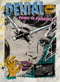 Prints & Multiples, Denial (b. 1976). Panic in Paradise, 2013. Screenprint in colors with spray paint on Lenox fine art pa...