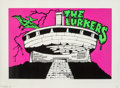 Prints & Multiples, The Lurkers . Buzludzha, 2014. Screenprint in colors on Fabriano paper. 19-5/8 x 27 inches (49.8 x 6...