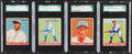 Baseball Cards:Lots, 1933 Goudey Baseball SGC 80 EX/MT 6 Graded Quartet (4). ...