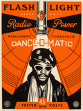 Prints & Multiples, Shepard Fairey (b. 1970). George Clinton Flash Light, 2016. Screenprint in colors on speckled cream pa...
