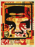 Prints & Multiples, Shepard Fairey (b. 1970). Collage Icon Top, 2018. Screenprint in colors on speckled cream paper. 24 ...