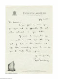 Autographs:Letters, Hank Greenberg Autographed 1945 One Page Handwritten Letter ...