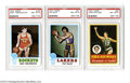 Basketball Cards:Lots, 1973 TOPPS NM/MT PSA 8 Lot of 5. Group includes Boston ...