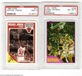 Basketball Cards:Lots, 1981-1989 Mint PSA 9 Lot of 4. Includes 1981 Topps #109W ...