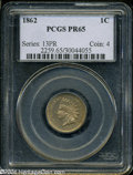 Proof Indian Cents: , 1862 1C PR65 PCGS. A meticulously struck and satiny Gem ...