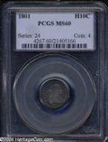 Early Half Dimes: , 1801 MS60 PCGS. The current Coin Dealer Newsletter (...