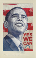 Prints & Multiples, Antar Dayal (20th century). Yes We Can, 2008. Offset lithograph in colors on paper. 39-1/2 x 25 inch...