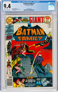 Batman Family #7 (DC, 1976) CGC NM 9.4 Off-white to white pages