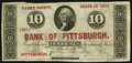 Pittsburgh, OH- George Poe at the Bank of Pittsburgh 10¢ ND Wolka 2213-02 Very Fine-Extremely Fine