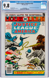 Justice League of America #132 (DC, 1976) CGC NM/MT 9.8 White pages