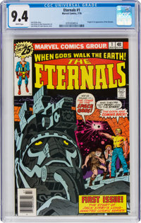 The Eternals #1 (Marvel, 1976) CGC NM 9.4 White pages