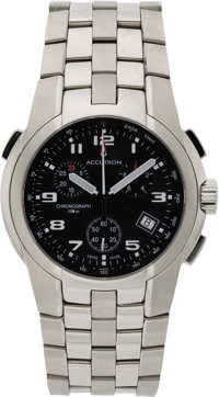 "Accutron ""Eagle Pilot"" Men's Quartz-Movement Flyback Chronograph, Buzz Aldrin Signature Model 26B62, New in Bo..."