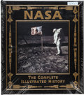 Explorers:Space Exploration, Buzz Aldrin Signed Leather-Bound Limited Edition Books (Three Copies, Still Sealed): NASA, The Complete Illustrated Hist... (Total: 3 )