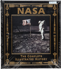Buzz Aldrin Signed Leather-Bound Limited Edition Books (Three Copies, Still Sealed): NASA, The Complete Illustrated Hist...