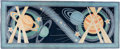 Explorers:Space Exploration, Edward Fields Solar System Themed Large Area Rug, Originally from Buzz Aldrin's Personal Collection. ...