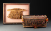 A Waiwai Cosmetic Basket and a South American Hand Broom... (Total: 2 )