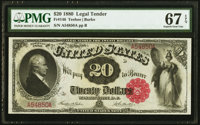 Fr. 146 $20 1880 Legal Tender PMG Superb Gem Unc 67 EPQ