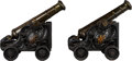 Military & Patriotic:Revolutionary War, Pair of 18th Century Signal Cannons.. ... (Total: 2 Items)