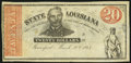 Obsoletes By State:Louisiana, Shreveport, LA- State of Louisiana $20 Mar. 10, 1863 Cr. 13 Remainder Very Fine.. ...