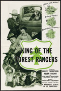 """Movie Posters:Serial, King of the Forest Rangers (Republic, 1946). Folded, Fine/Very Fine. Uncut Pressbook (12 Pages, 12"""" X 18""""). Serial.. ..."""