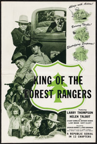 """King of the Forest Rangers (Republic, 1946). Folded, Fine/Very Fine. Uncut Pressbook (12 Pages, 12"""" X 18""""). Se..."""