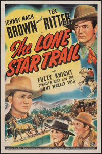 """The Lone Star Trail & Other Lot (Universal, 1943). Folded, Overall: Fine-. One Sheet (27"""" X 41"""") & Hal..."""