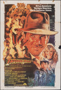 """Movie Posters:Adventure, Indiana Jones and the Temple of Doom (Paramount, 1984). Folded, Fine+. Argentinean One Sheet (29"""" X 43"""") Drew Struzan Artwor..."""
