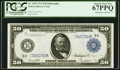 Fr. 1035 $50 1914 Federal Reserve Note PCGS Superb Gem New 67PPQ