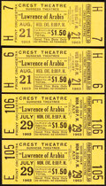 """Movie Posters:Academy Award Winners, Lawrence of Arabia (Crest Theatre, 1963). Very Fine+. Theatre Tickets (4) (1.5"""" X 3.5""""). Academy Award Winners.. ... (Total: 4 Items)"""
