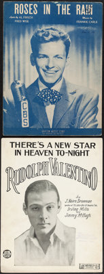 """Rudolph Valentino - There's a New Star in Heaven To-Night (Jack Mills, 1926). Fine. Sheet Music (2) (9.3"""" X 12.3&qu..."""