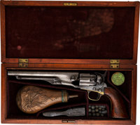 Cased & Inscribed Colt Model 1860 Army Single Action Revolver